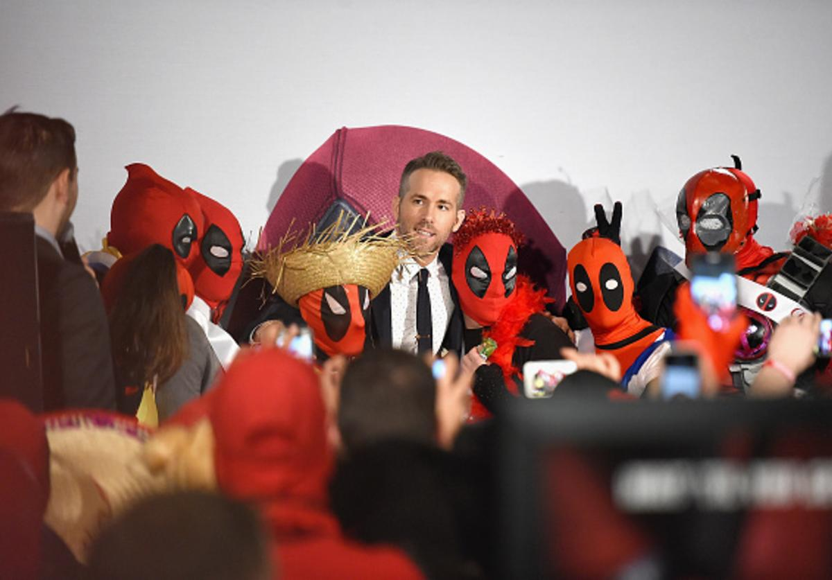 Actor Ryan Reynolds attends the 'Deadpool' fan event at AMC Empire Theatre on February 8, 2016 in New York City.