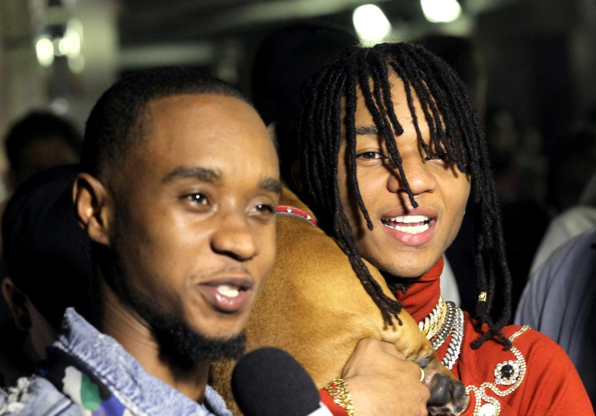 Slim Jxmmi (L) and Swae Lee of Rae Sremmurd attend night three of the STAPLES Center Concert, sponsored by Sprite, during the 2017 BET Experience at Staples Center on June 24, 2017 in Los Angeles, California.
