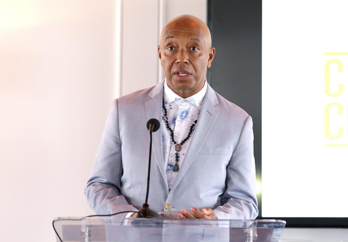 Music Mogul Russell Simmons speaks at the Culture Creators 2nd Annual Awards Brunch Presented By Motions Hair And Ciroc at Mr. C Beverly Hills on June 24, 2017 in Beverly Hills, California.