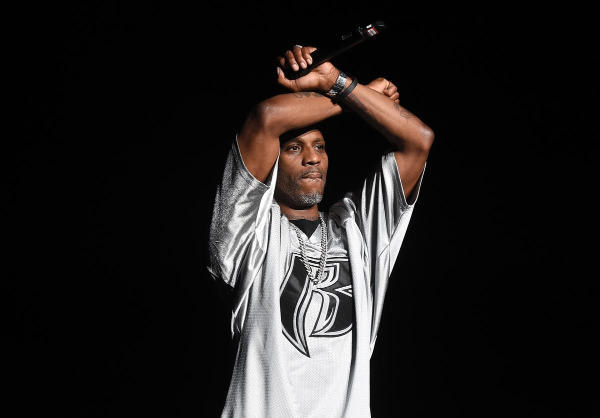 DMX performs onstage during the Bad Boy Family Reunion Tour at The Forum on October 4, 2016 in Inglewood, California