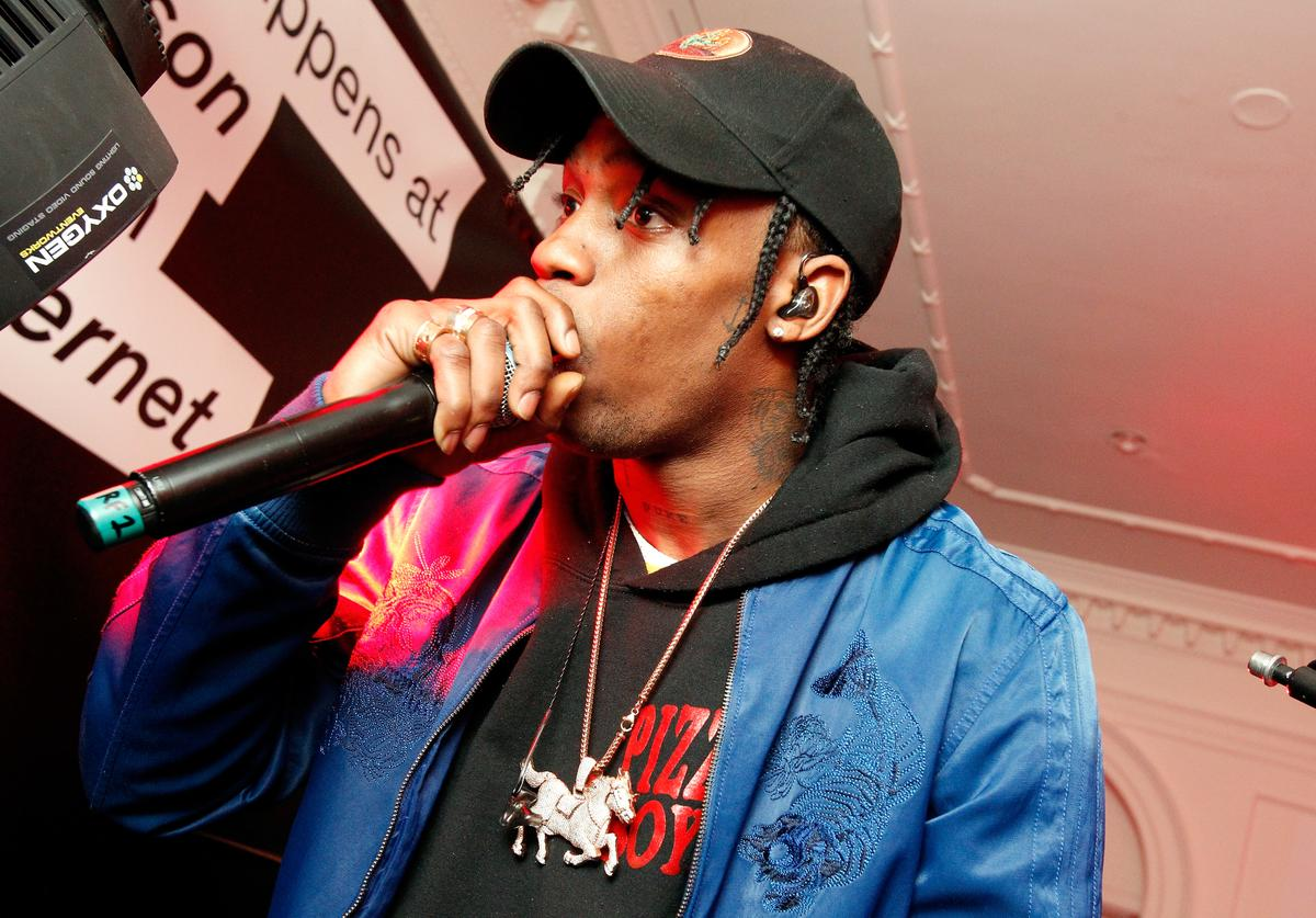 Travis Scott performs onstage at the after party celebrating DIESEL's Madison Avenue flagship on February 13, 2016 in New York City
