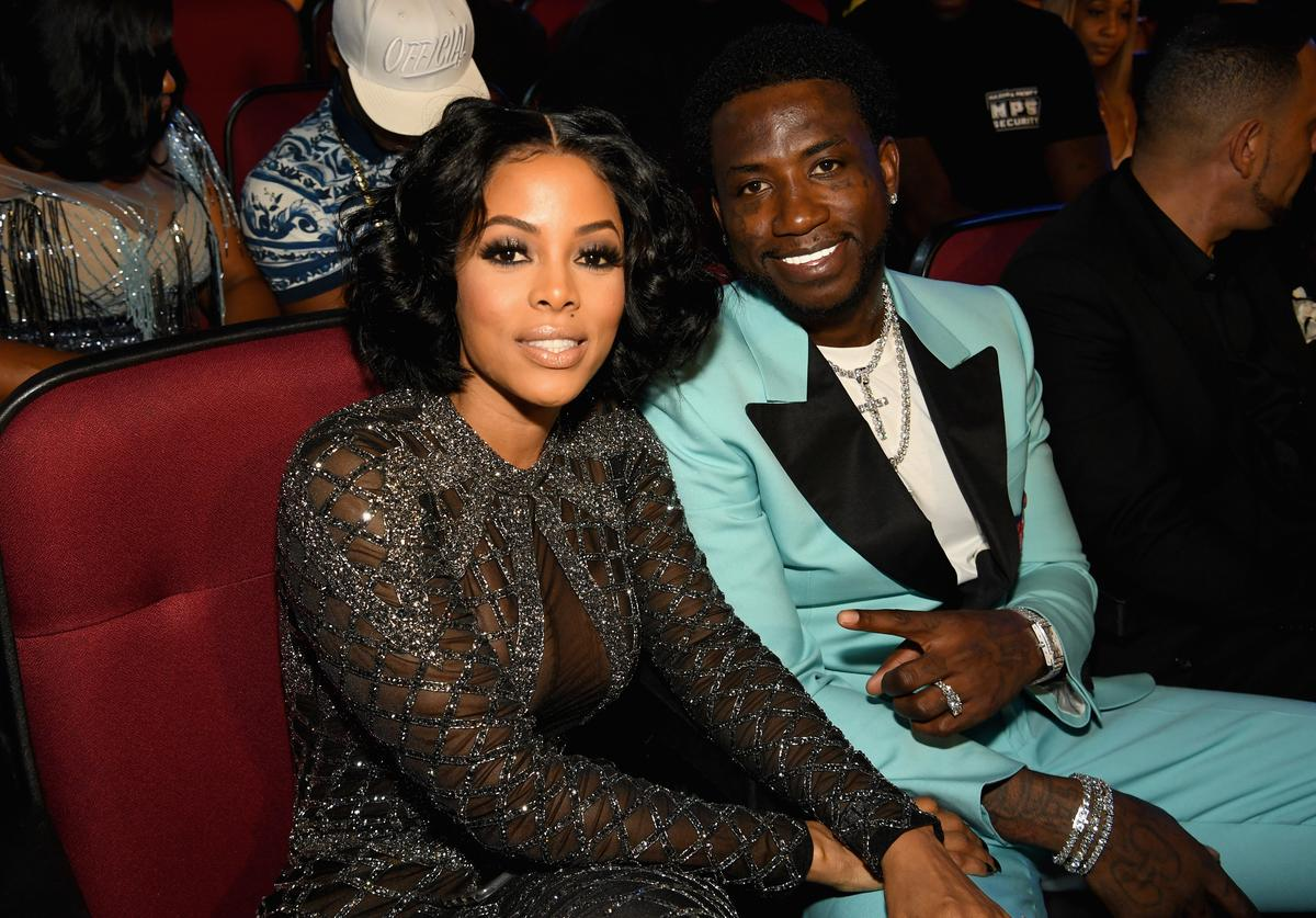 Keyshia Ka'oir and Gucci Mane attend 2017 BET Awards at Microsoft Theater on June 25, 2017 in Los Angeles, California