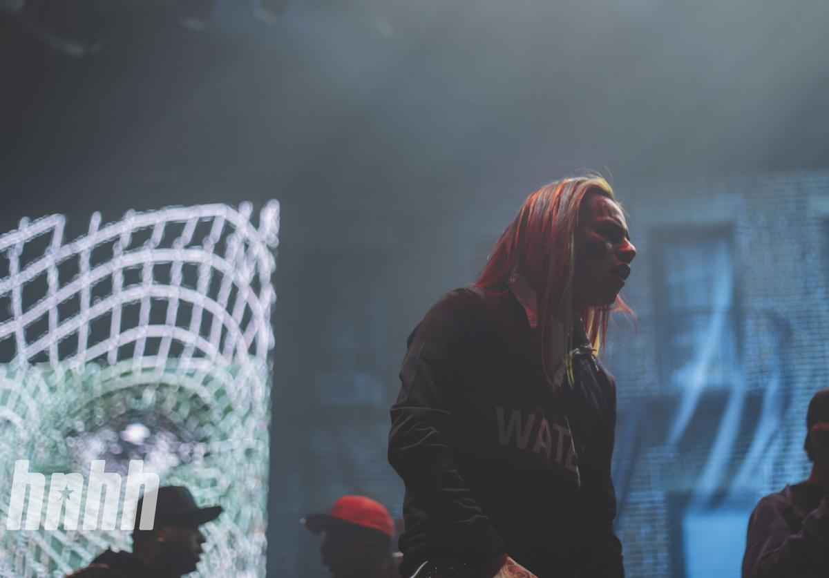 Tekashi 6ix9ine performing at Yams Day 2018 in New York City.