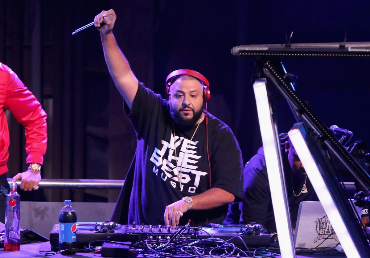 DJ Khaled performs during Pepsi Super Friday Night at Pier 70 on February 5, 2016 in San Francisco, California