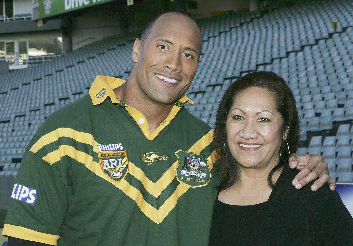 The Rock & Mom