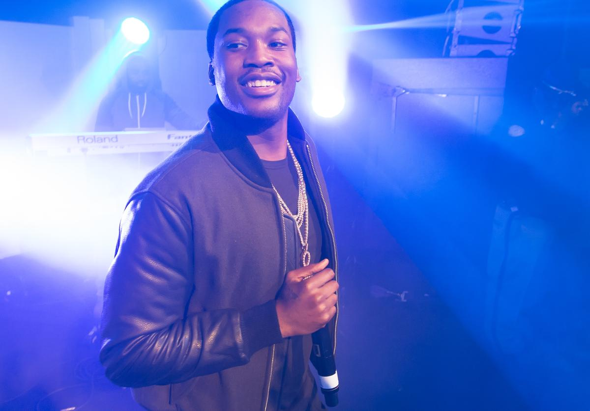 Meek Mill performs during the Bacardi untamable house party on November 20, 2015 in Atlanta, Georgia