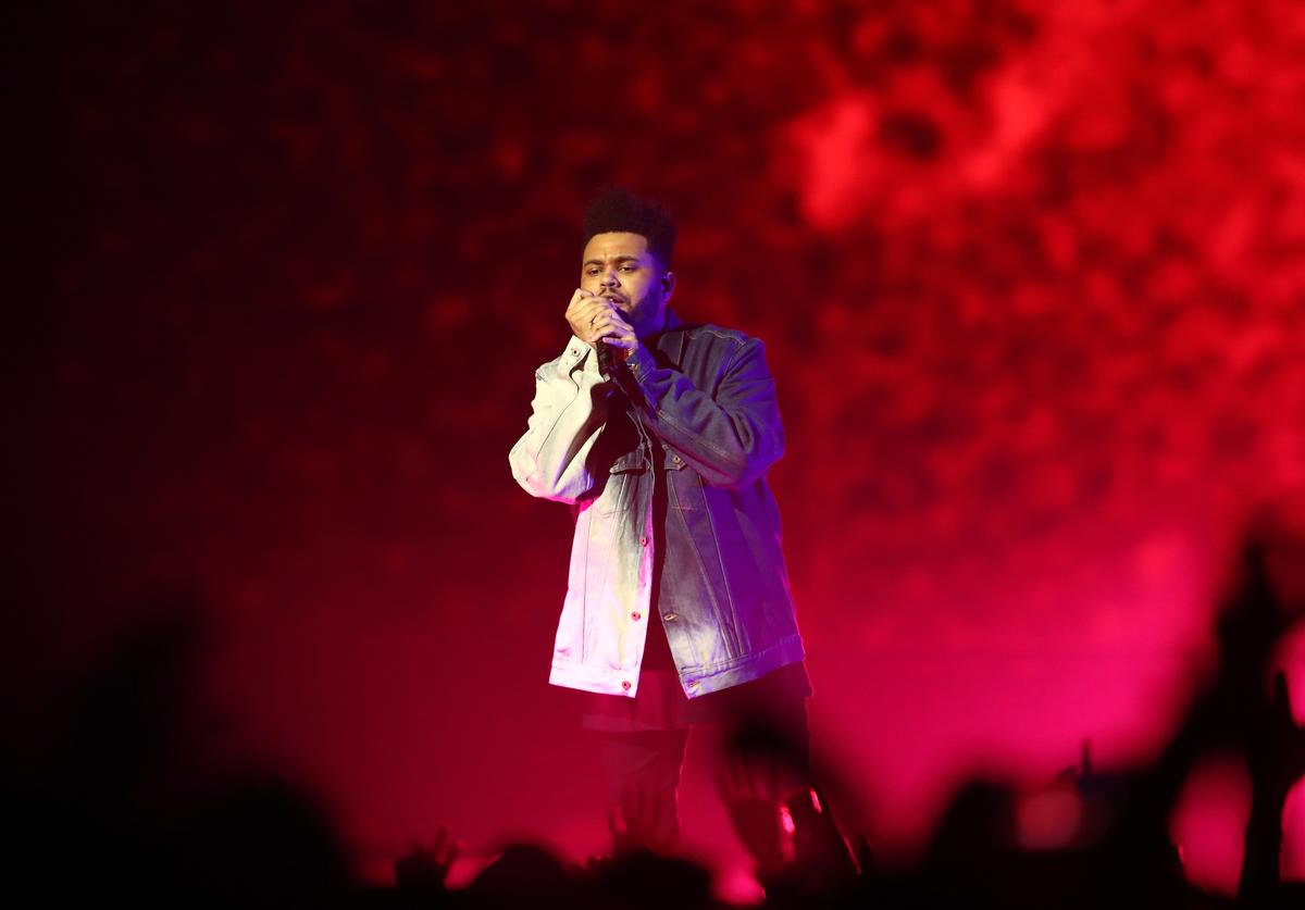The Weeknd performs during Starboy: Legend of the Fall 2017 World Tour at Spark Arena on November 29, 2017 in Auckland, New Zealand