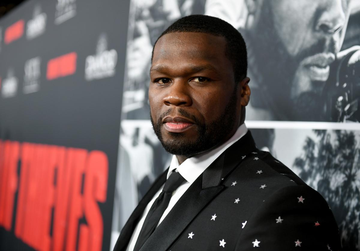 50 Cent attends the premiere of STX Films' 'Den of Thieves' at Regal LA Live Stadium 14 on January 17, 2018 in Los Angeles, California