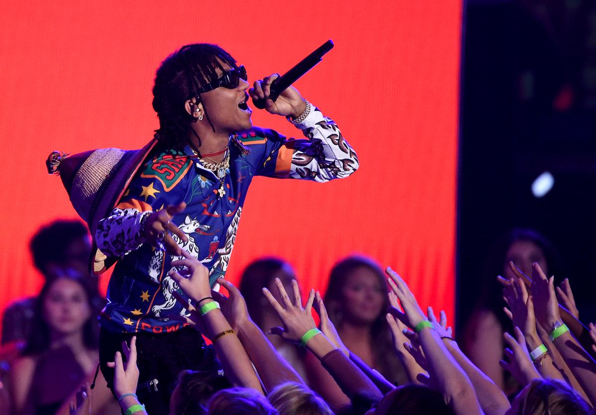 Swae Lee of Rae Sremmurd performs onstage during the Teen Choice Awards 2017 at Galen Center on August 13, 2017 in Los Angeles, California.