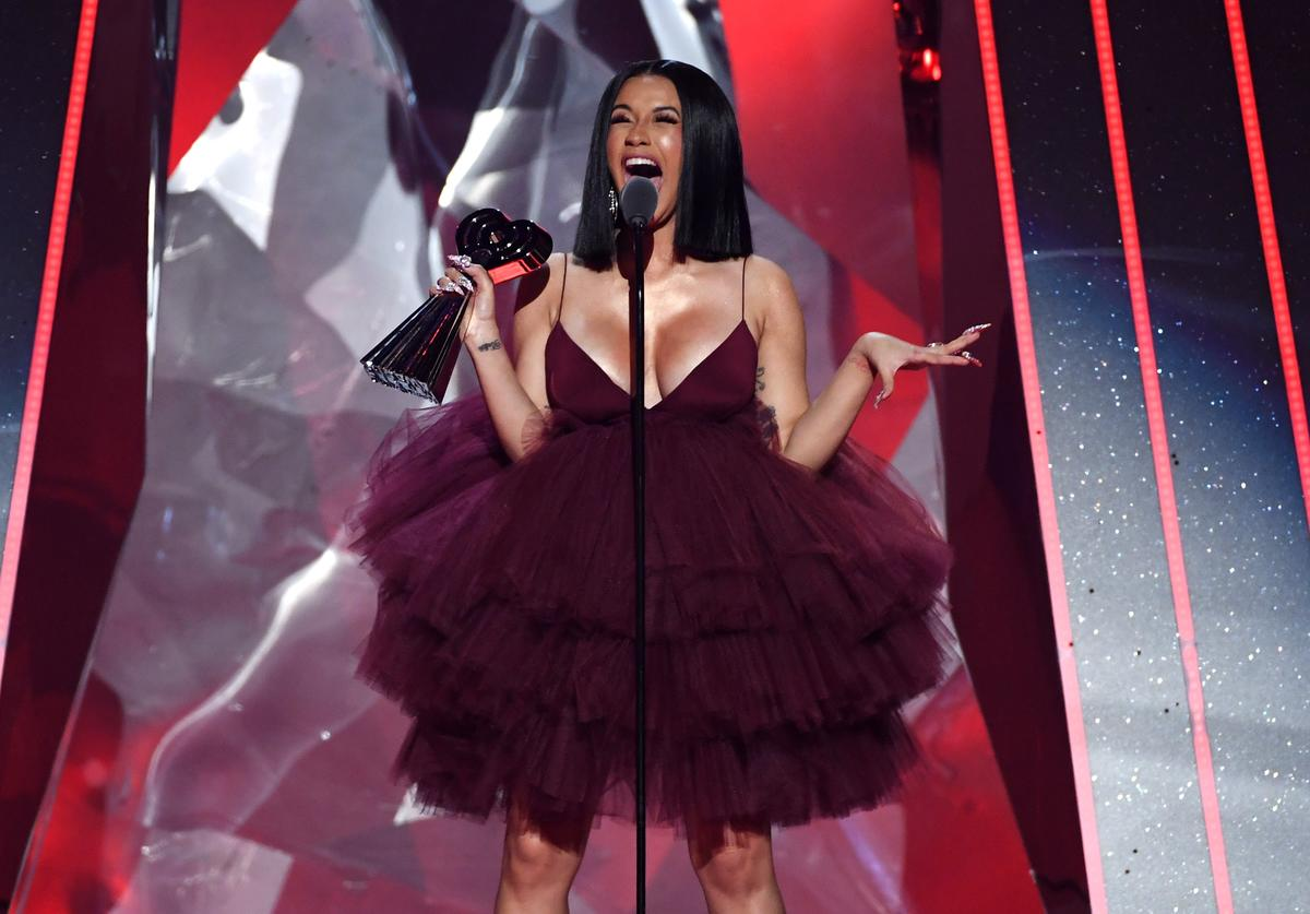 Cardi B accepts Best New Artist onstage during the 2018 iHeartRadio Music Awards which broadcasted live on TBS, TNT, and truTV at The Forum on March 11, 2018 in Inglewood, California.