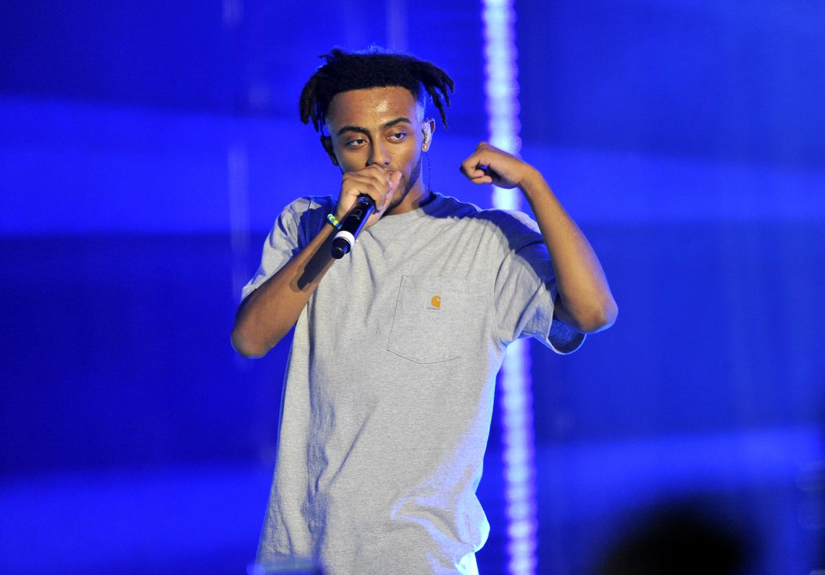 Amine performs onstage at Vevo Halloween 2017 at Craneway Pavilion on October 28, 2017 in Richmond, California