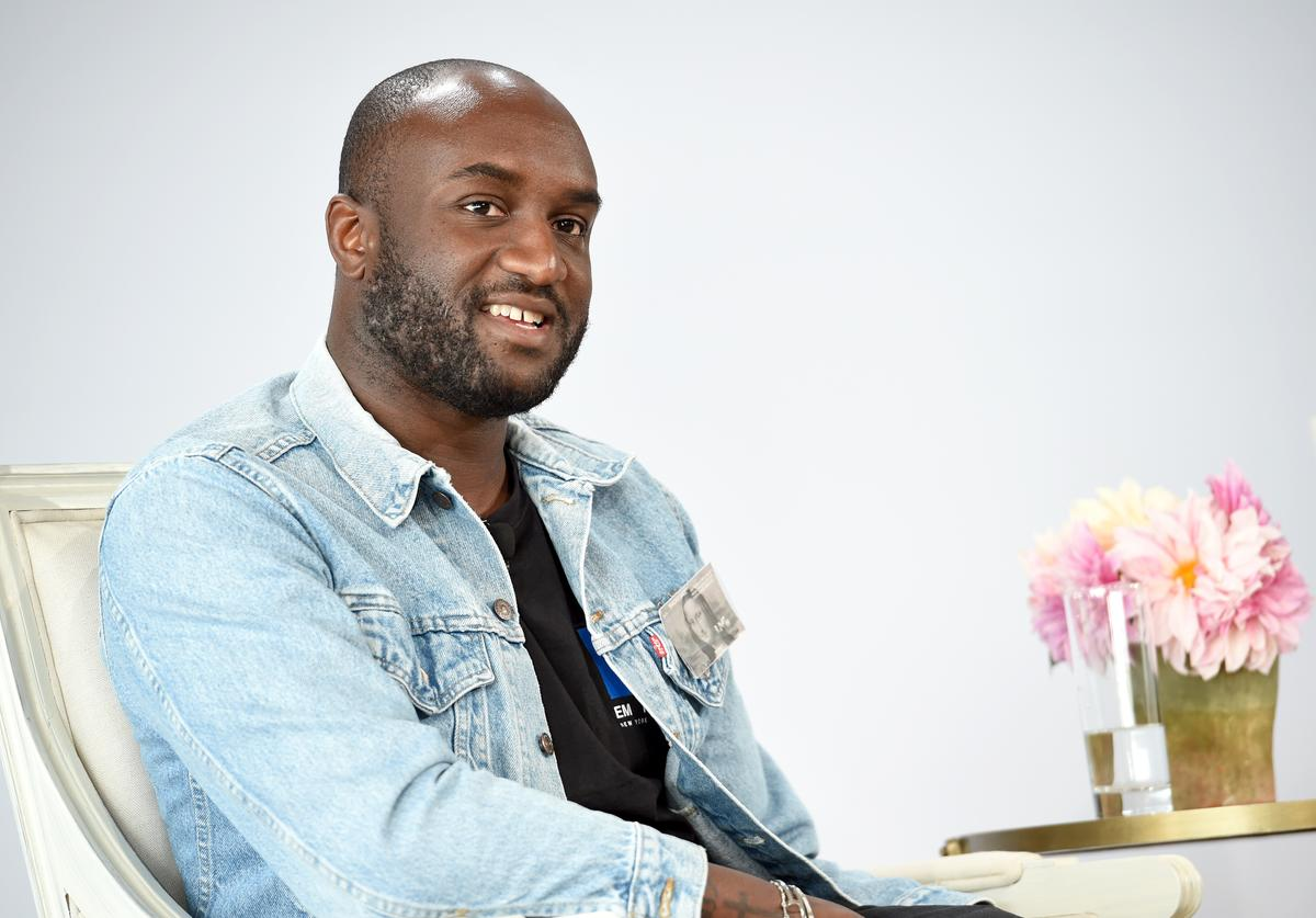 Virgil Abloh speaks onstage during Vogue's Forces of Fashion Conference at Milk Studios on October 12, 2017 in New York City.