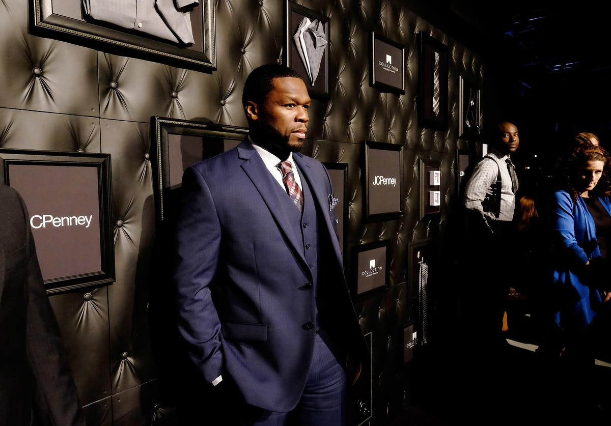 Curtis '50 Cent' Jackson III attends JCPenney and Michael Strahan's launch of Collection by Michael Strahan on September 30, 2015 in New York City