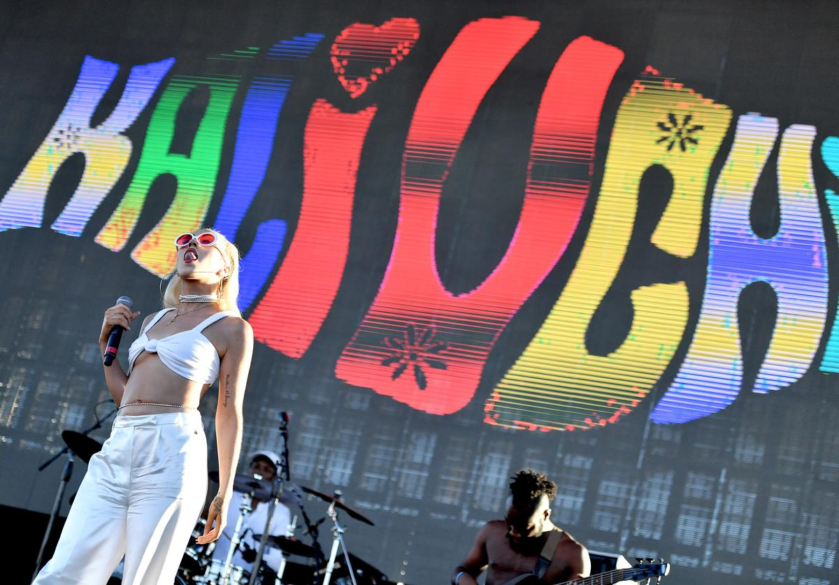 Kali Uchis performs on Camp Stage during day two of Tyler, the Creator's 5th Annual Camp Flog Gnaw Carnival at Exposition Park on November 13, 2016 in Los Angeles, California.