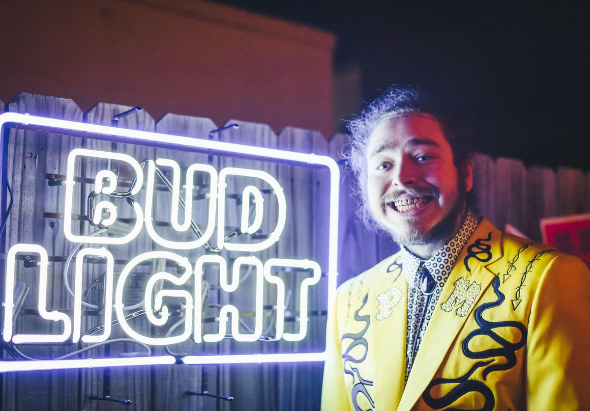 Post Malone attends Bud Light's Dive Bar Tour at the Exit/In on April 4, 2018 in Nashville, Tennessee
