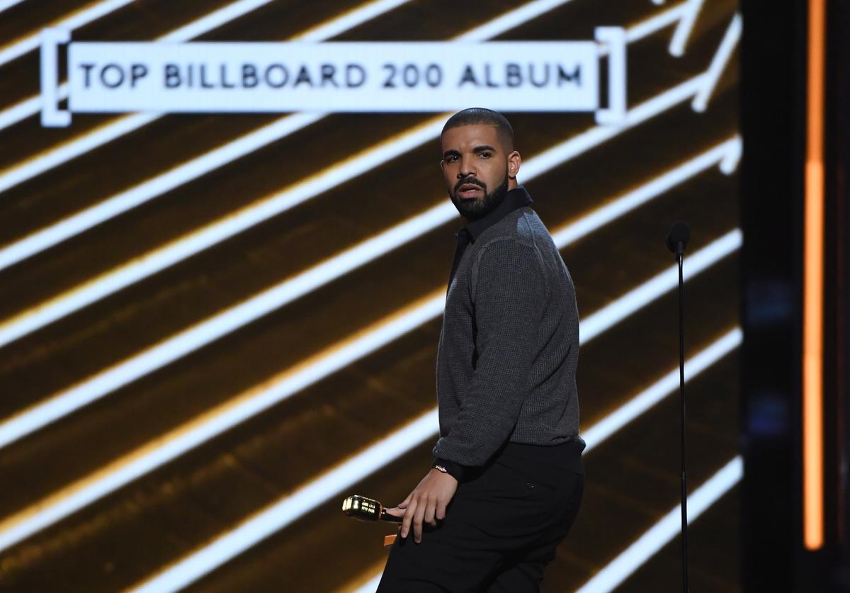 Recording artist Drake accepts the Top Billboard 200 Album award for 'Views' during the 2017 Billboard Music Awards at T-Mobile Arena on May 21, 2017 in Las Vegas, Nevada.