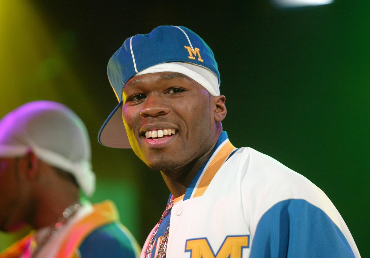 50 Cent performs on MTV's Direct Effect at MTV studios February 24, 2003 in New York City