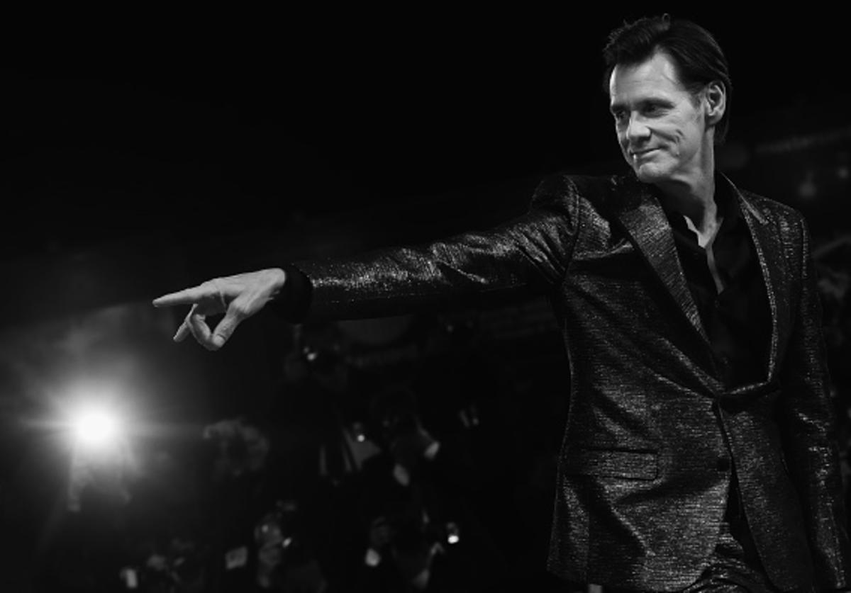 Jim Carrey walks the red carpet ahead of the 'Jim & Andy: The Great Beyond - The Story of Jim Carrey & Andy Kaufman Featuring a Very Special, Contractually Obligated Mention of Tony Clifton' screening during the 74. Venice Film Festival on September 5, 2017 in Venice, Italy.