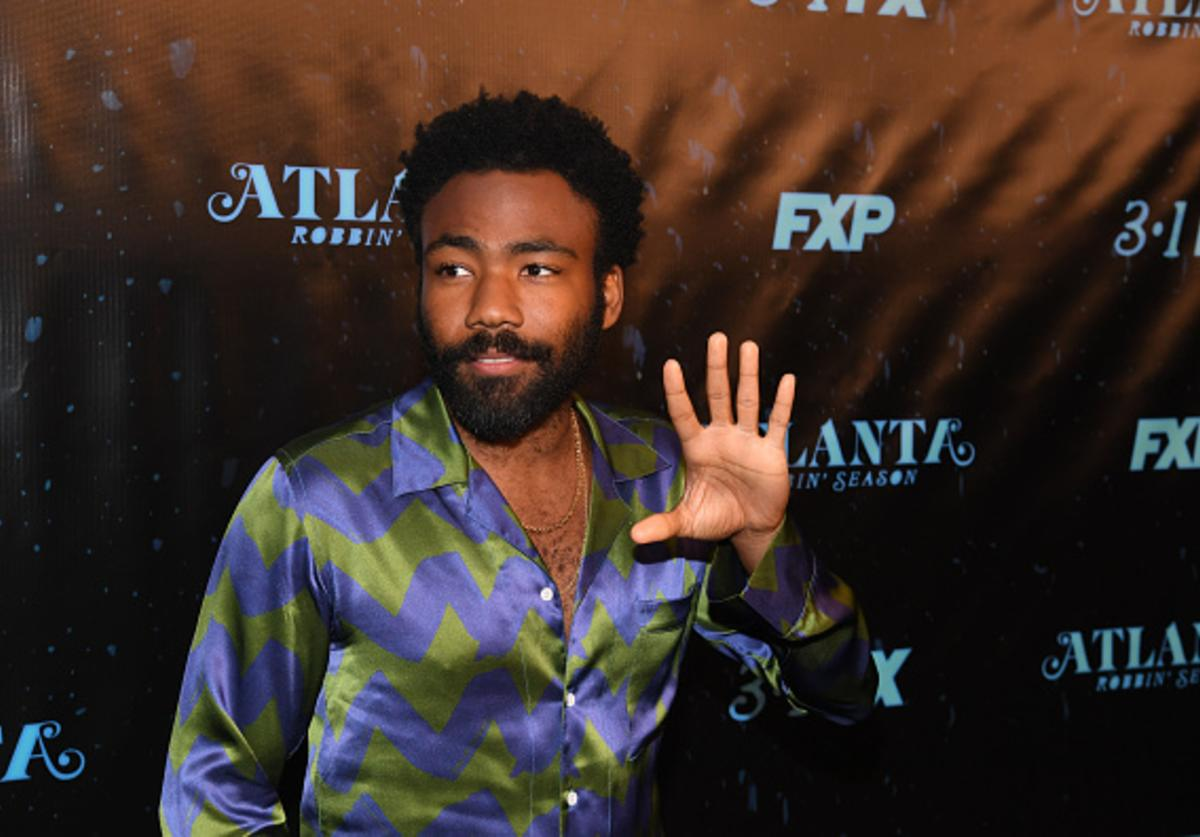 Actor/recording artist Donald Glover attends 'Atlanta Robbin' Season' Atlanta Premiere at Starlight Six Drive In on February 26, 2018 in Atlanta, Georgia.