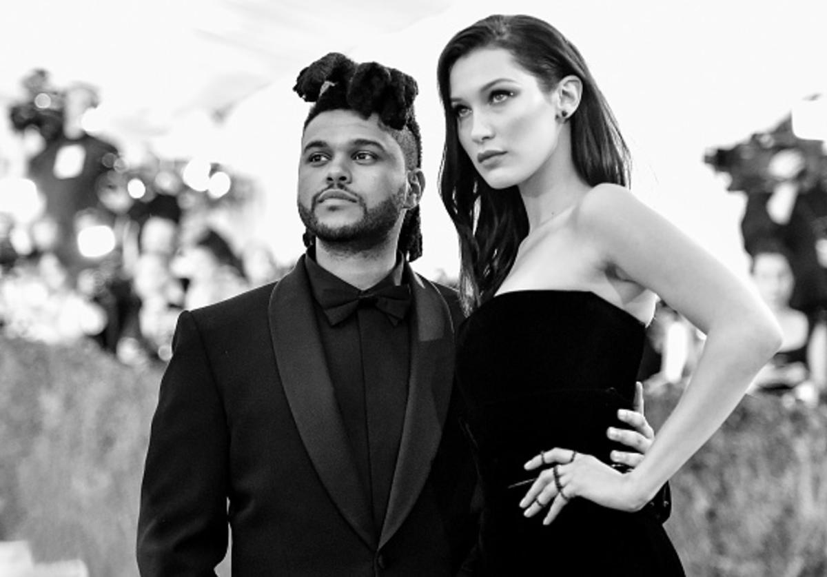 The Weeknd (L) and Bella Hadid attend the 'Manus x Machina: Fashion In An Age Of Technology' Costume Institute Gala at Metropolitan Museum of Art on May 2, 2016 in New York City.