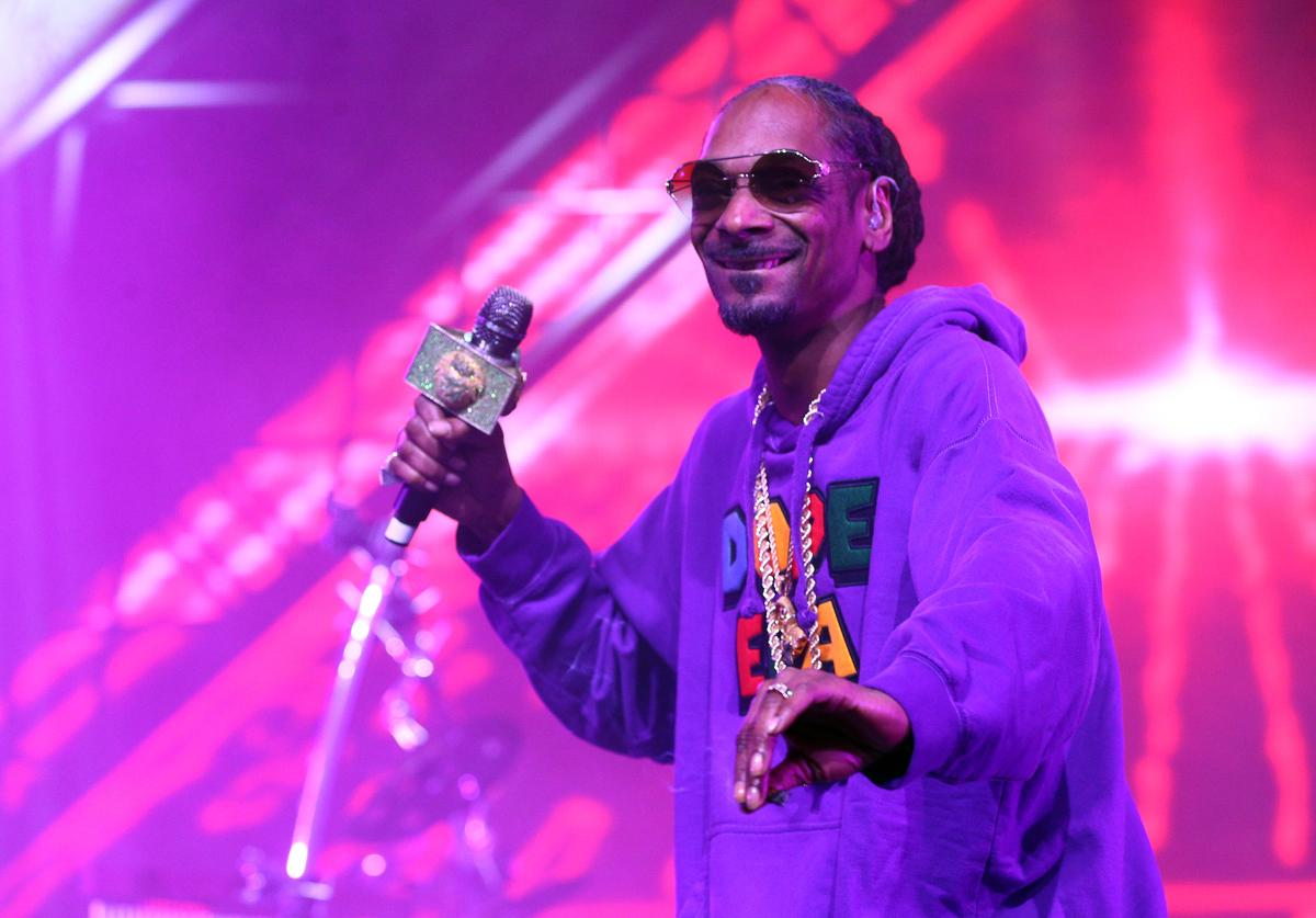 Snoop Dogg performs with Jamiroquai during the 2018 Coachella Valley Music And Arts Festival at the Empire Polo Field on April 13, 2018 in Indio, California.