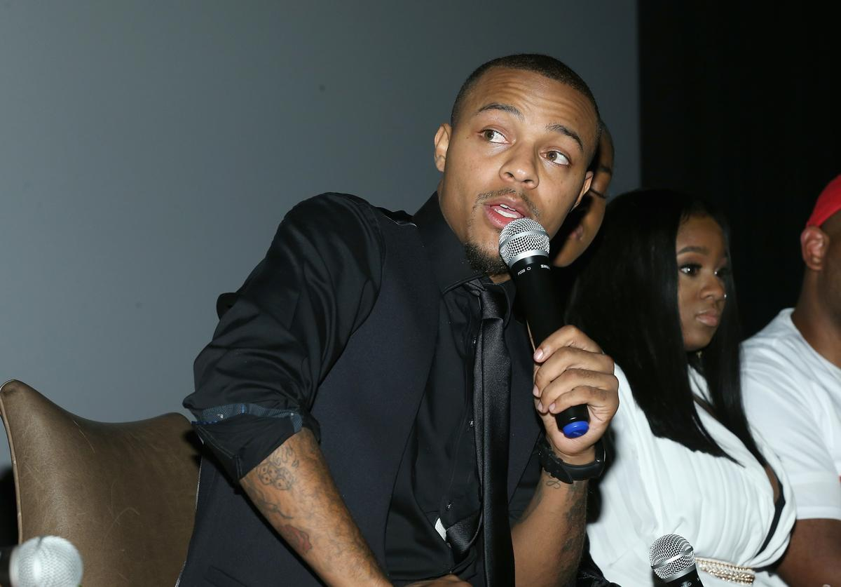Shad 'Bow Wow' Moss speaks at the WE tv's Growing Up Hip Hop Atlanta premiere screening event on May 16, 2017 in New York City.
