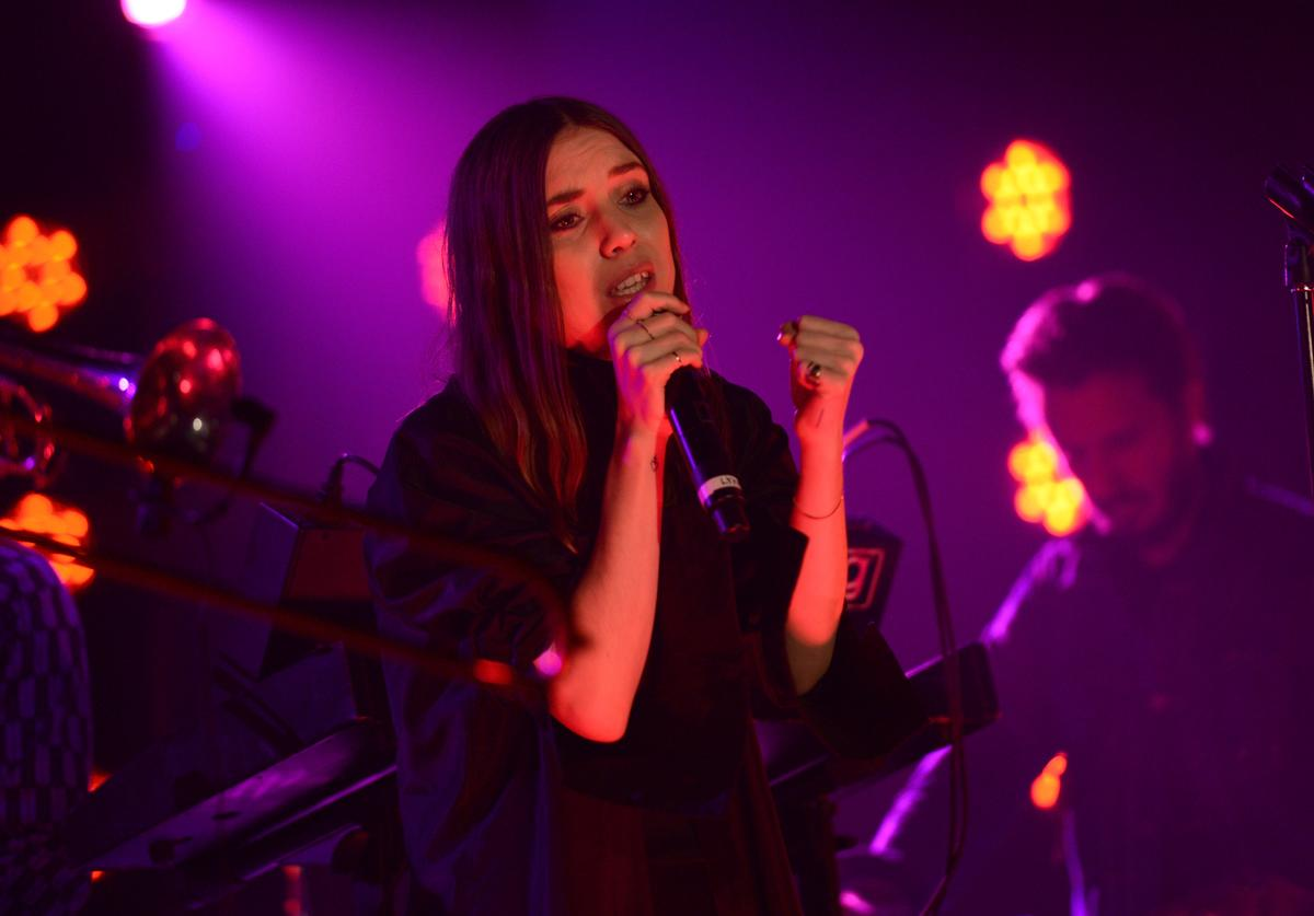 Lykke Li performs at the Other Ball fundraiser sponsored by Topshop Topman for Arms Around the Child at the Highline Ballroomon December 10, 2013 in New York City