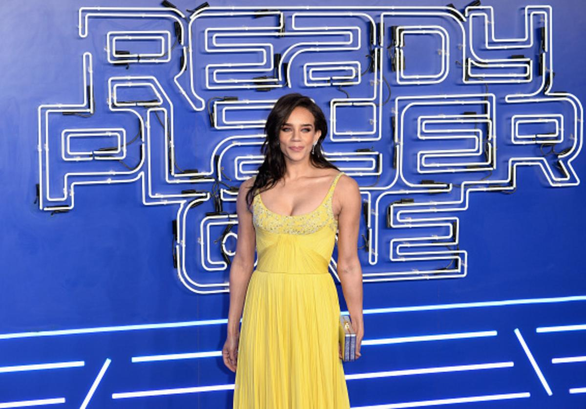 Actress Hannah John-Kamen attends the European Premiere of 'Ready Player One' at Vue West End on March 19, 2018 in London, England.