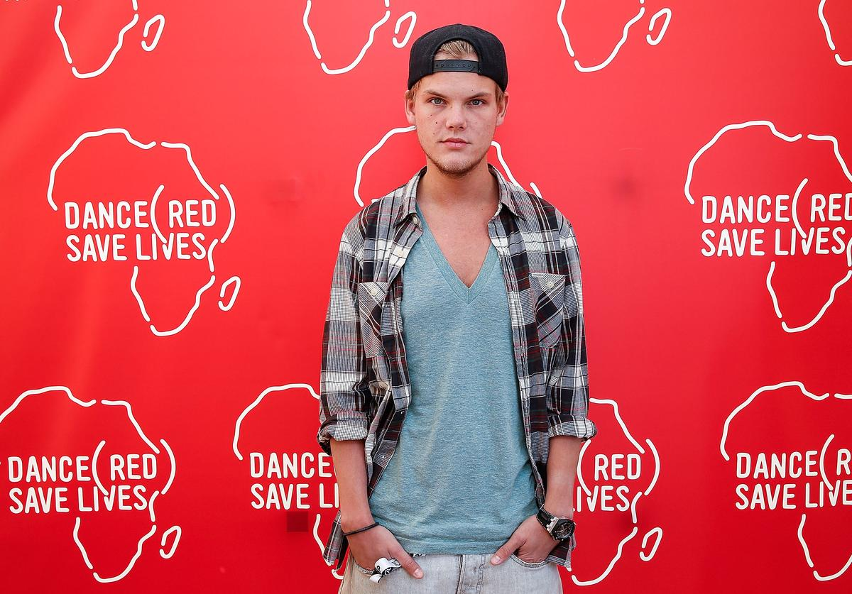 Avicii poses backstage for DANCE (RED), SAVE LIVES during Stereosonic 2012 at Melbourne Showgrounds on December 1, 2012 in Melbourne, Australia
