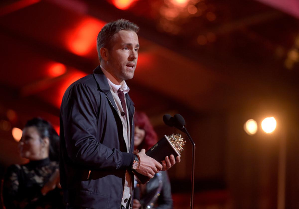 Actor Ryan Reynolds accepts Best Comedic Performance for 'Deadpool' onstage during the 2016 MTV Movie Awards at Warner Bros. Studios on April 9, 2016 in Burbank, California.