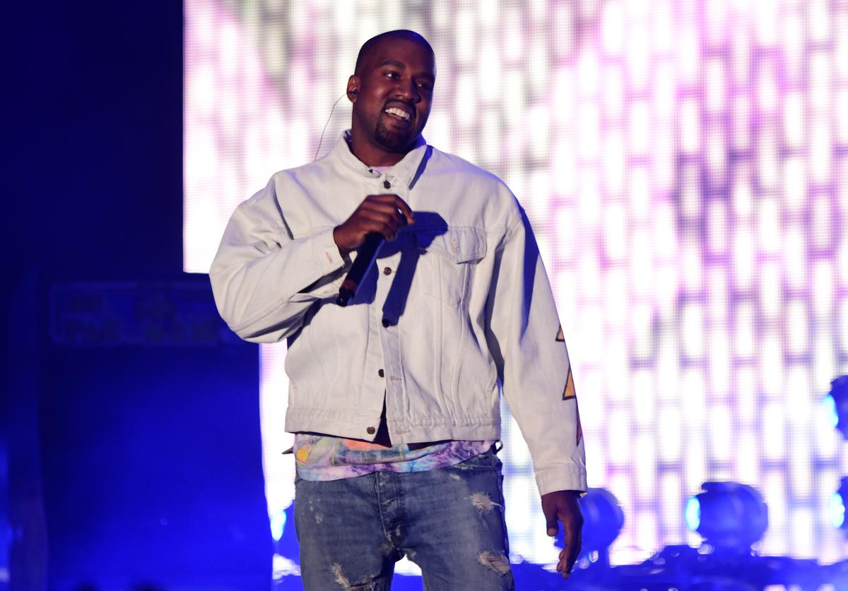 Hip-hop artist Kanye West performs onstage during day 1 of the 2016 Coachella Valley Music & Arts Festival Weekend 1 at the Empire Polo Club on April 15, 2016 in Indio, California.