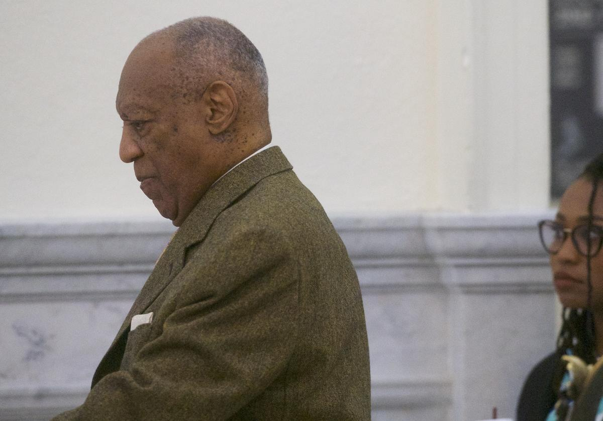 Bill Cosby arrives at the Montgomery County Courthouse for the fourth day of his sexual assault retrial on April 12, 2018 in Norristown, Pennsylvania. A former Temple University employee alleges that the entertainer drugged and molested her in 2004 at his home in suburban Philadelphia. More than 40 women have accused the 80 year old entertainer of sexual assault.
