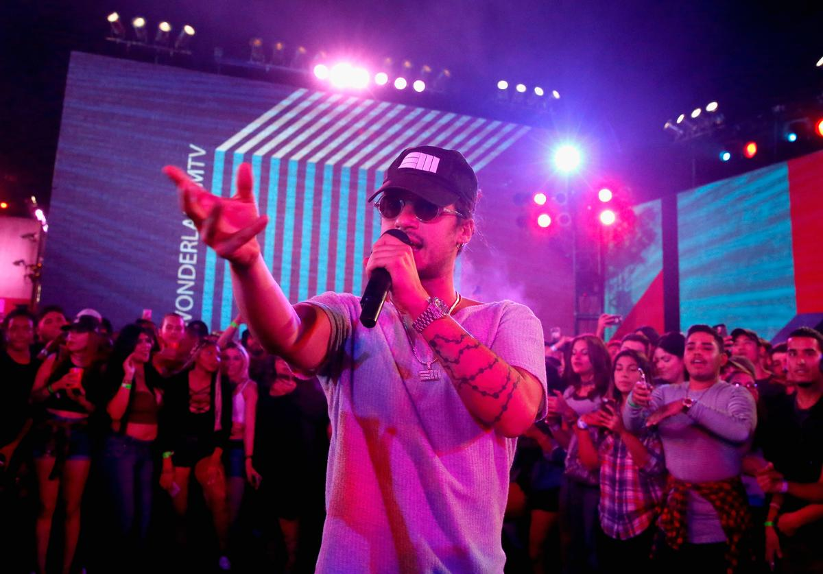 Recording artist Russ performs onstage at MTV's 'Wonderland' LIVE Show on October 6, 2016 in Los Angeles, California.