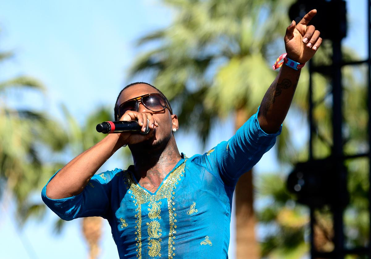 Lil B performs onstage during day 1 of the 2015 Coachella Valley Music & Arts Festival (Weekend 1) at the Empire Polo Club on April 10, 2015 in Indio, California