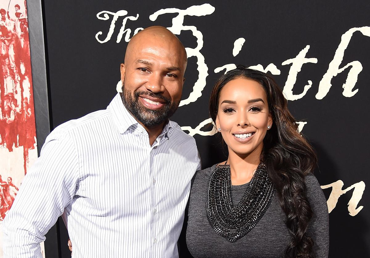 Derek Fisher and Gloria Govan attend the premiere of Fox Searchlight Pictures' 'The Birth of a Nation' at ArcLight Cinemas Cinerama Dome on September 21, 2016 in Hollywood, California.