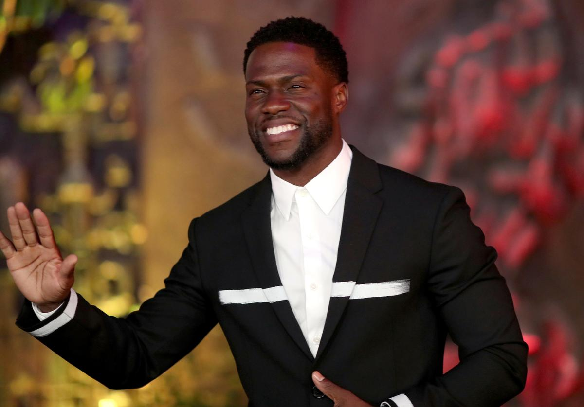 Kevin Hart attends the premiere of Columbia Pictures' 'Jumanji: Welcome To The Jungle' on December 11, 2017 in Hollywood, California.