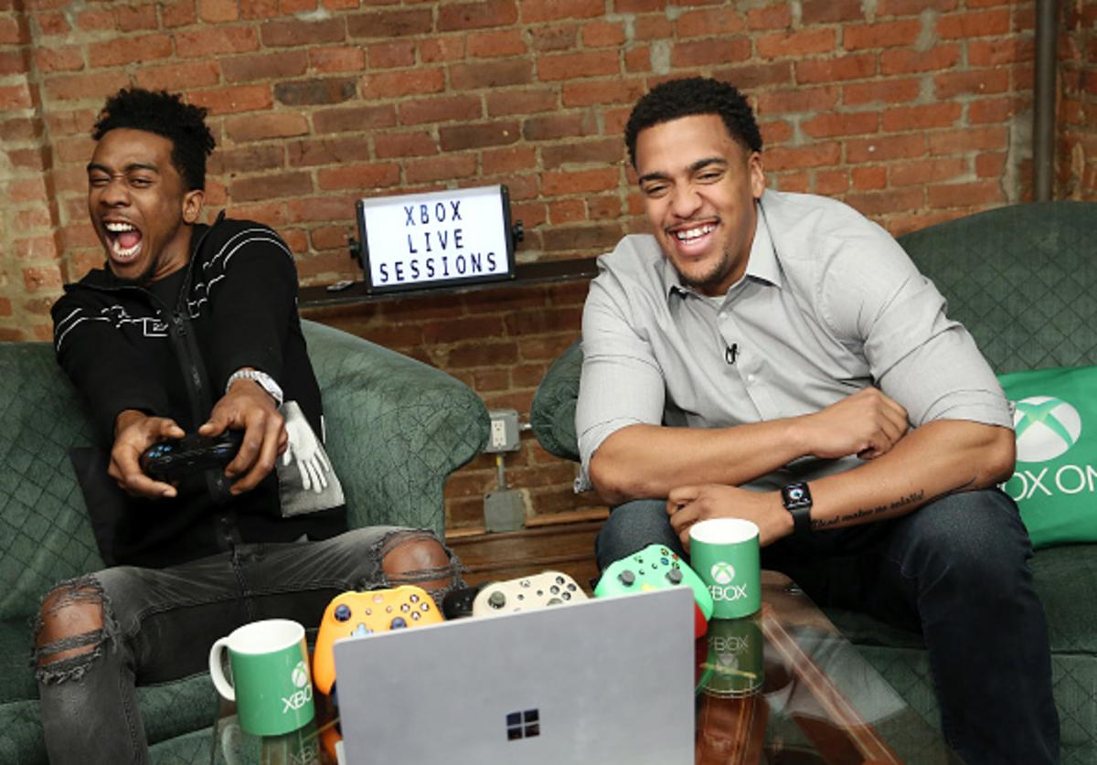Desiigner joins Xbox Live Sessions with host Rukari Austin to play FAR CRY 5 on March 27, 2018 in New York City.