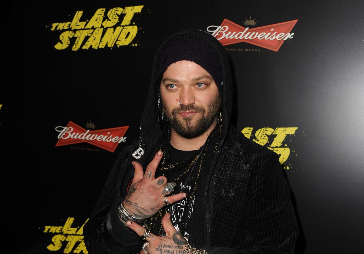 Actor Bam Margera arrives at the premiere of Lionsgate Films' 'The Last Stand' at Grauman's Chinese Theatre on January 14, 2013 in Hollywood, California.