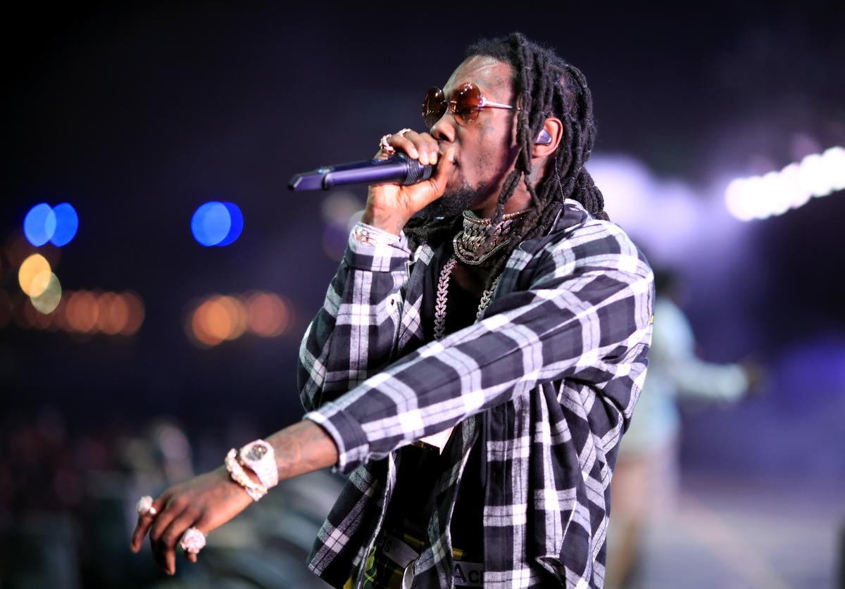 Offset of Migos performs onstage during the 2018 Coachella Valley Music And Arts Festival at the Empire Polo Field on April 22, 2018 in Indio, California.