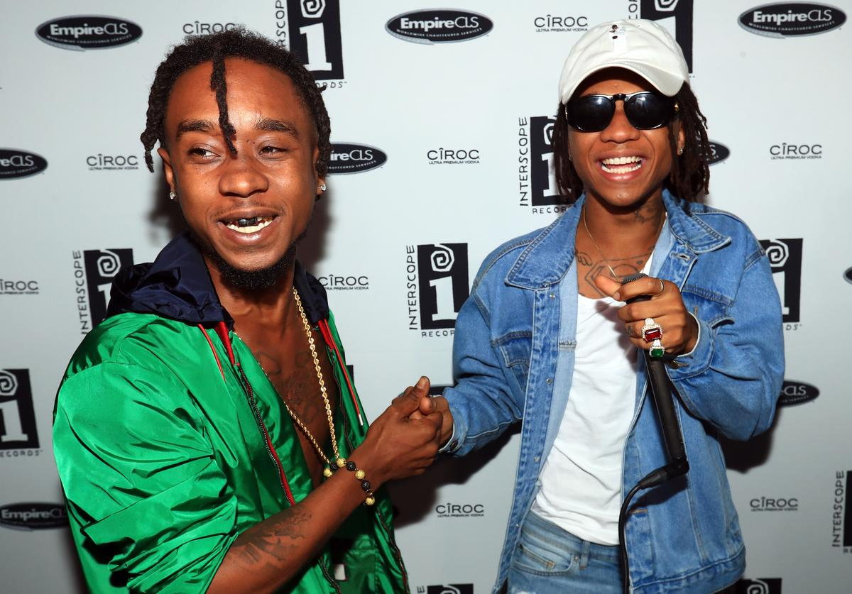 Hip-hop artists Rae Sremmurd attend the Interscope BET Party at The Reserve on June 25, 2016 in Los Angeles, California.