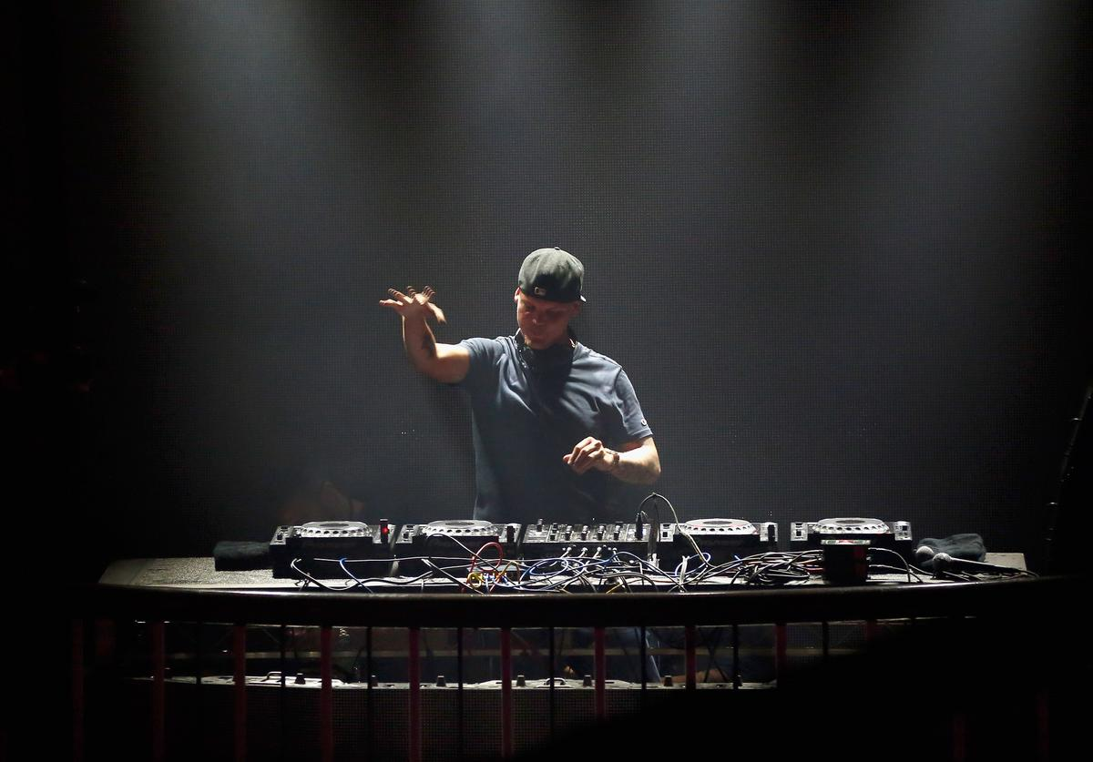 DJ Avicii performs onstage during Rolling Stone Live SF with Talent Resources on February 7, 2016 in San Francisco, California