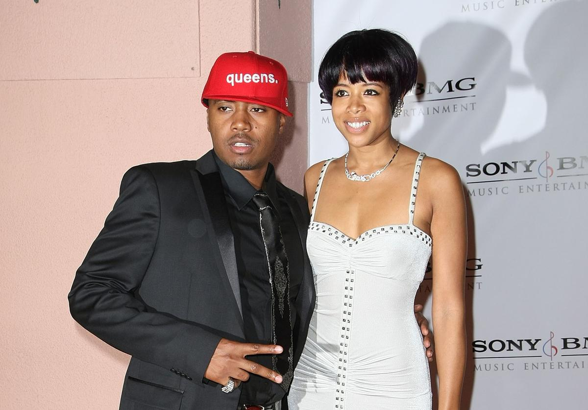 Rapper Nas (L) and singer Kelis arrive at the Entertainment Weekly Grammy After Party Toasting LA Reid held at STK on February 10, 2008 in West Hollywood, California.