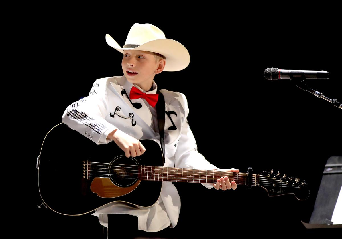 Viral internet sensation Mason Ramsey aka The Walmart Yodeling Boy performs onstage with Florida Georgia Line during 2018 Stagecoach California's Country Music Festival at the Empire Polo Field on April 27, 2018 in Indio, California.