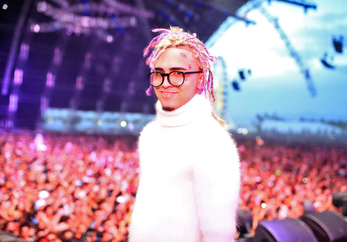 Lil Pump performs onstage during the 2018 Coachella Valley Music and Arts Festival Weekend 1 at the Empire Polo Field on April 15, 2018 in Indio, California