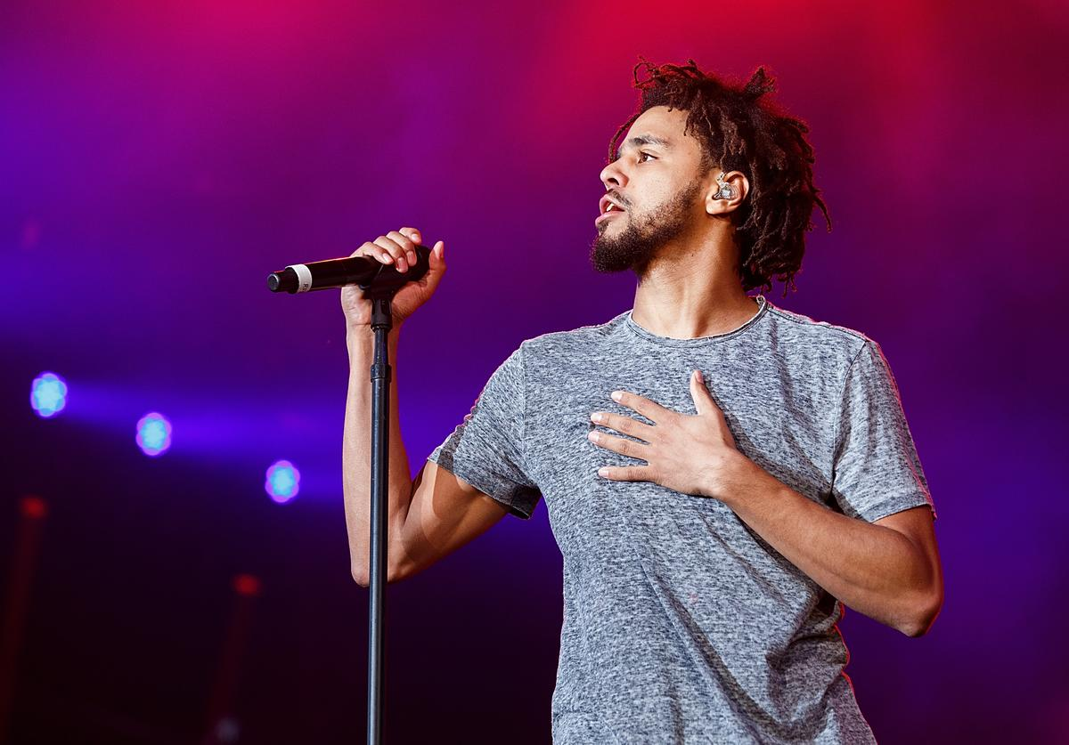 J. Cole performing live