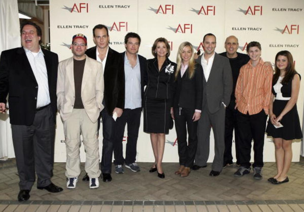 The cast of 'Arrested Development' pose at the 2004 AFI awards luncheon held at the Four Seasons Hotel on January 14, 2005 in Los Angeles, California.