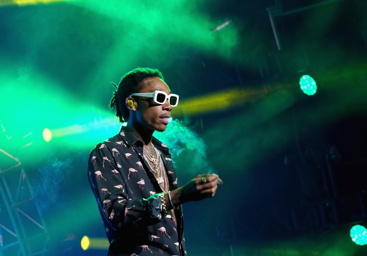Wiz Khalifa performs onstage at night one of the 2017 BET Experience STAPLES Center Concert, sponsored by Hulu, at Staples Center on June 22, 2017 in Los Angeles, California.