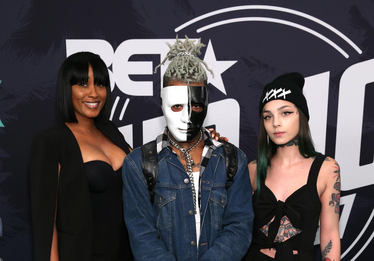 XXXTentacion (C) attends the BET Hip Hop Awards 2017 at The Fillmore Miami Beach at the Jackie Gleason Theater on October 6, 2017 in Miami Beach, Florida