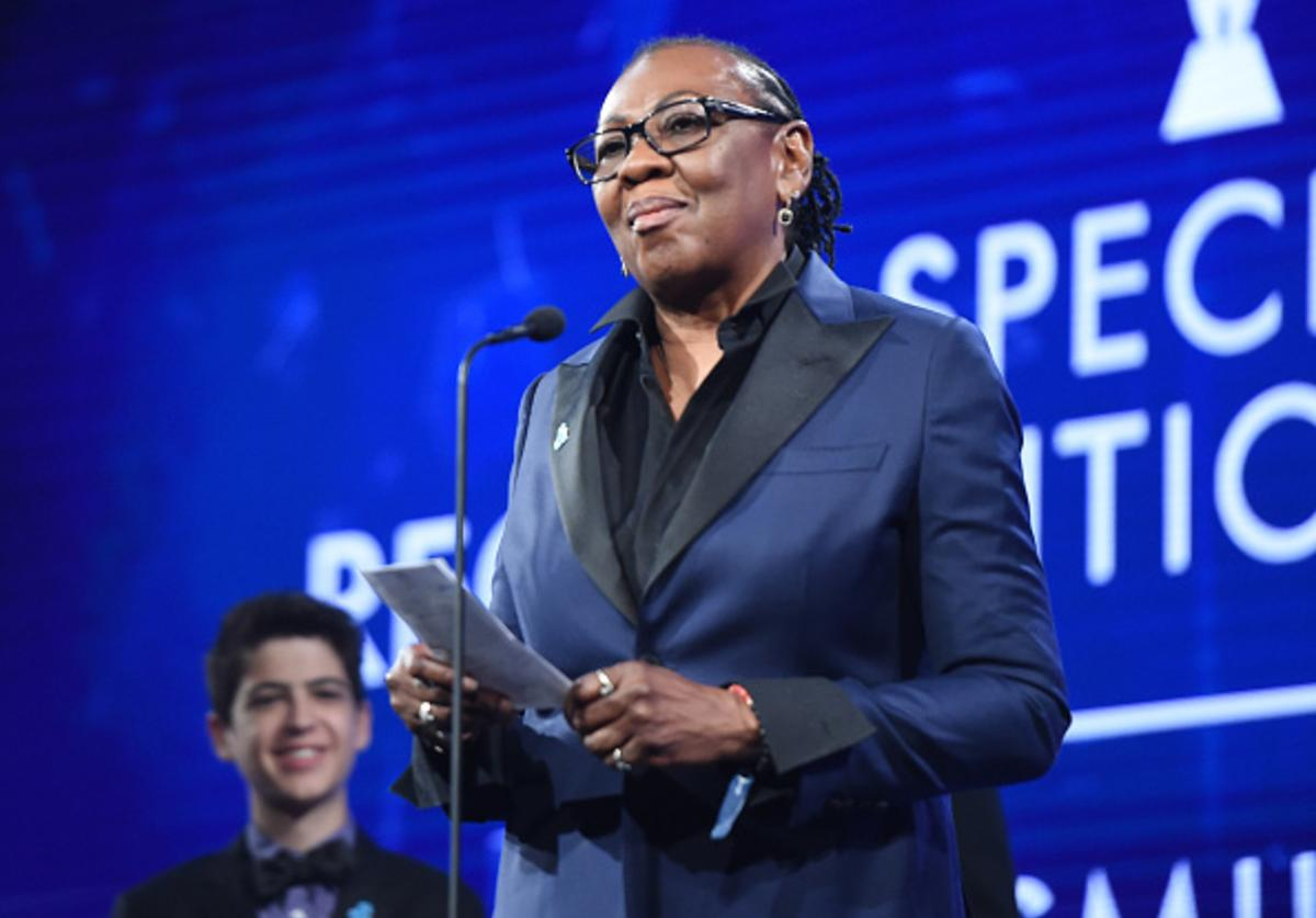 Gloria Carter accepts a Special Recognition Award onstage at the 29th Annual GLAAD Media Awards at The Hilton Midtown on May 5, 2018 in New York City.