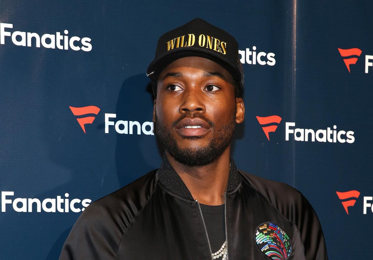 Rapper Meek Mill arrives for the Fanatics Super Bowl Party at Ballroom at Bayou Place on February 4, 2017 in Houston, Texas.